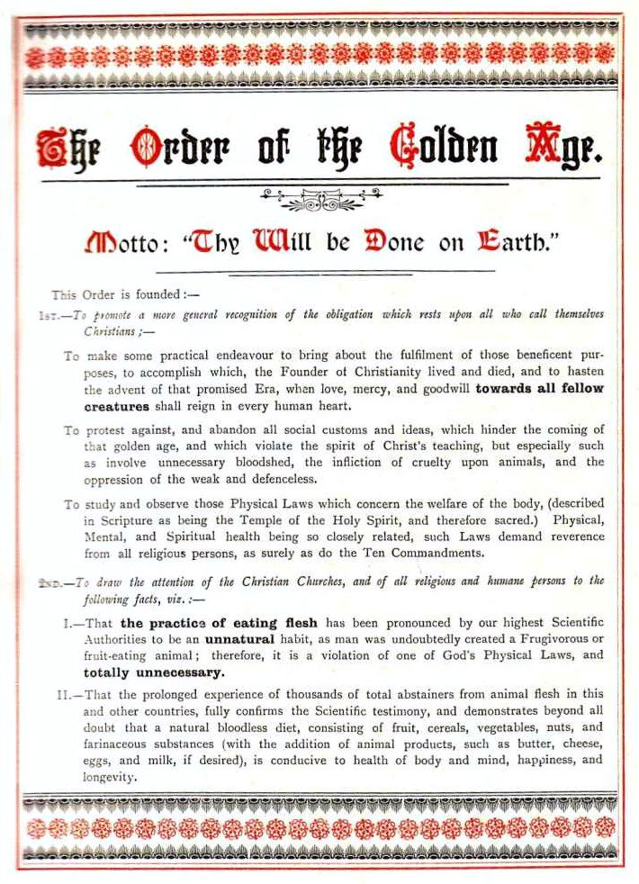 The Order of the Golden Age Prospectus